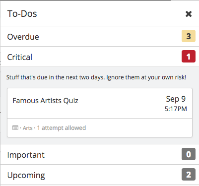 To-Dos - smarter way to categorize events