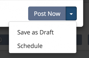 Save as Draft & Schedule