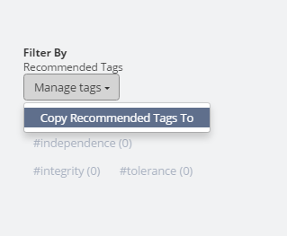 Copy all recommended tags from one classroom to the other