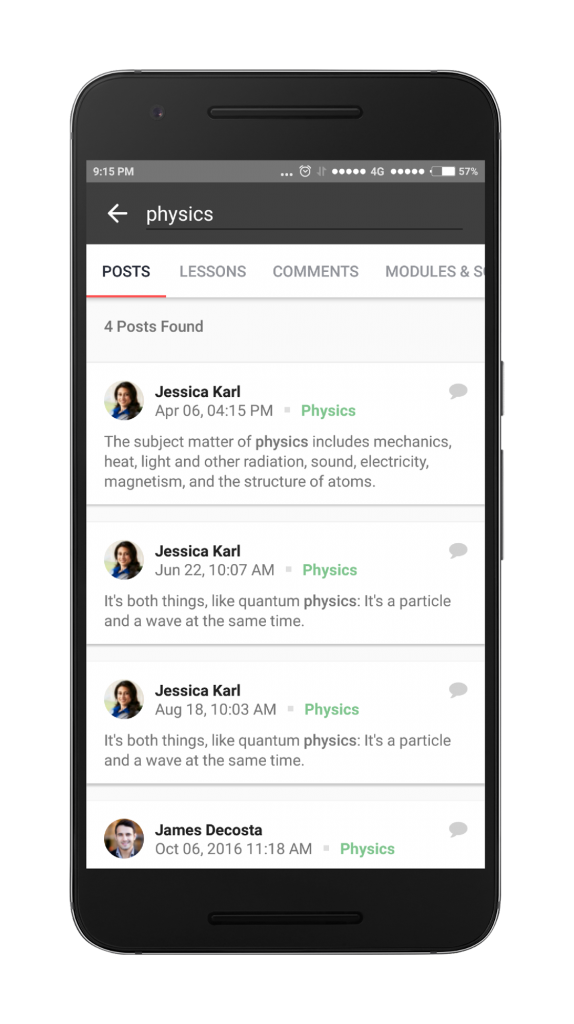 Search in Posts