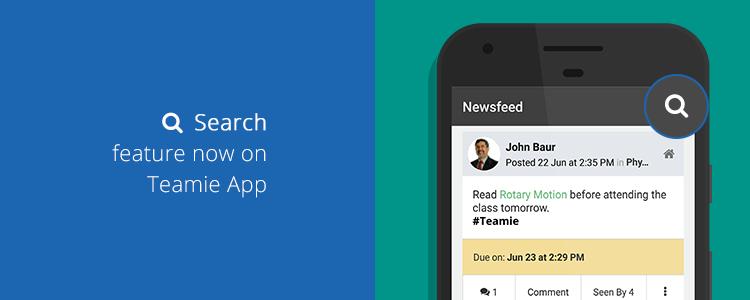 Teamie app update 3.2 banner