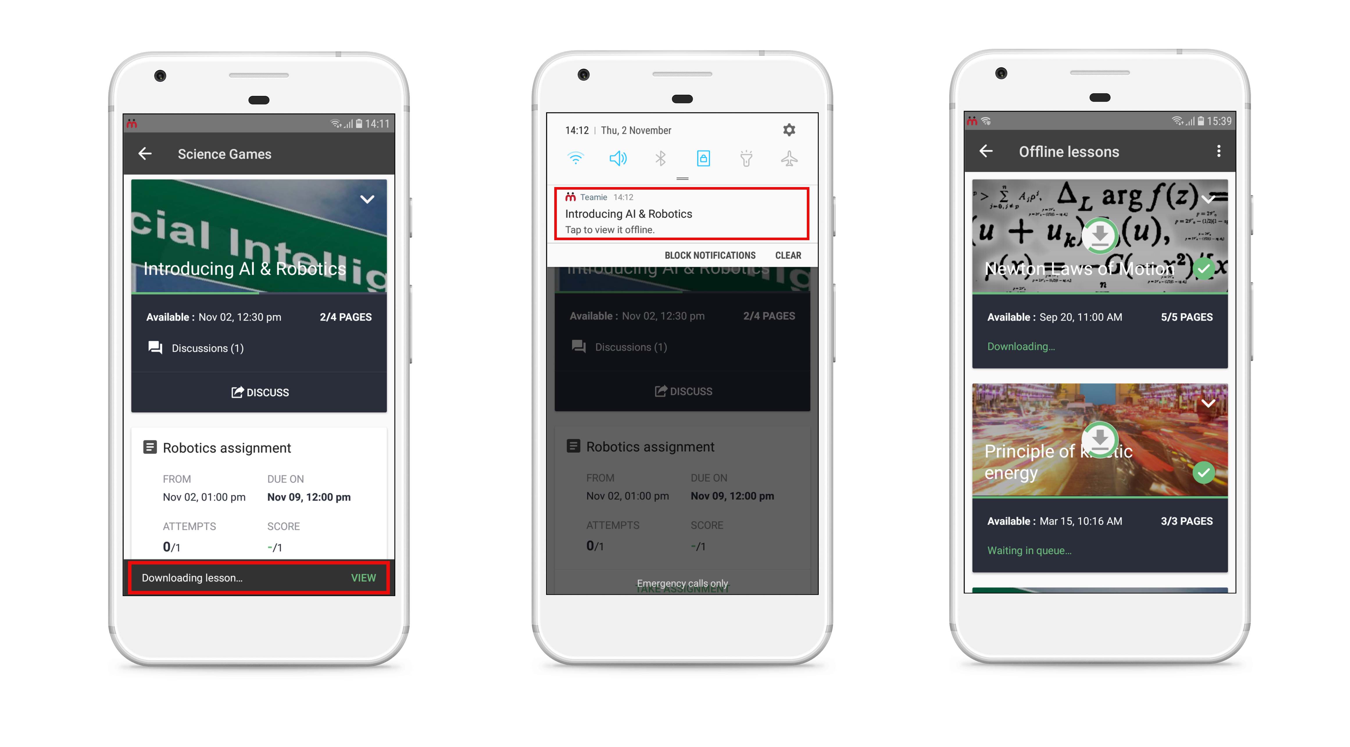 Teamie Android App Update 3 4 (Offline Lesson Reading) - Teamie Updates